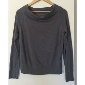 James Perse Off Shoulder Light Weight Sweater